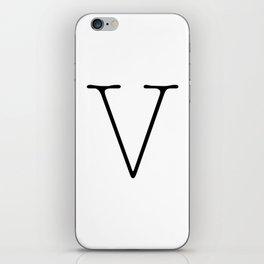 Letter V Typewriting iPhone Skin