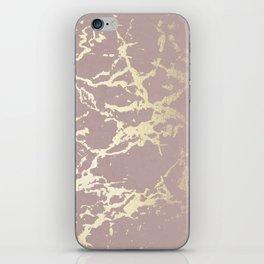 Kintsugi Ceramic Gold on Clay Pink iPhone Skin