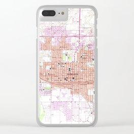 Vintage Map of Bismark North Dakota (1962) Clear iPhone Case