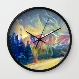 Mystic Mountain Wall Clock