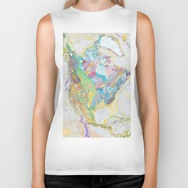 USGS Geological Map of North America Biker Tank