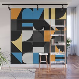 Geometric Abstract Colorful Art Retro Pattern Wall Mural