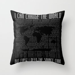 Source Code Of The World Throw Pillow