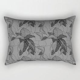 Croton in Grey Rectangular Pillow