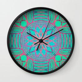 Pink Lotus Lattice Wall Clock