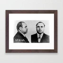 Al Capone Mugshot Framed Art Print