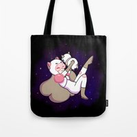 bee and puppycat Tote Bags featuring Bee and Puppycat by attercopter