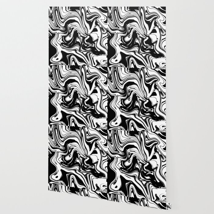 Liquid Marble B&W 028 Wallpaper