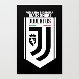 Slogan Juventus Canvas Print