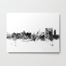 Calcutta (Kolkata) India Skyline Metal Print