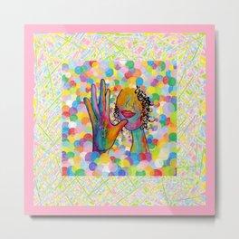 ASL Mother for Baby Girl Nursery Metal Print