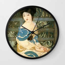Kitano Tsunetomi - Top Quality Art - After Bath Wall Clock