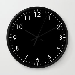 Black Solid Color Block Wall Clock