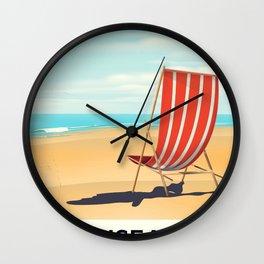 Swansea Bay Wales Seaside poster Wall Clock