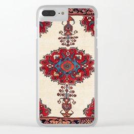 Afshar Kerman South Persian Rug Print Clear iPhone Case