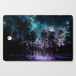 One Magical Night... teal & purple Cutting Board