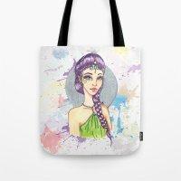 princess Tote Bags featuring Princess by Lagoonartastic