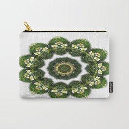 Little White Wildflower Kaleidoscope Art 4 Carry-All Pouch