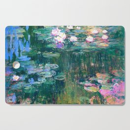 water lilies : Monet Cutting Board