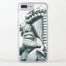 Ku Tiki Retro Powder Blue Kuau Clear iPhone Case