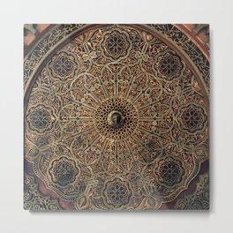 Oriental Arabic decorative pattern royal design  Metal Print