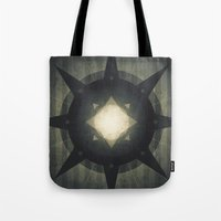 hamlet Tote Bags featuring Oberon - Hamlet Crater by Fabled Creative