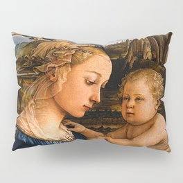 """Fra Filippo Lippi """"Madonna with child and two Angels"""" Pillow Sham"""
