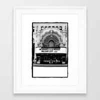 theater Framed Art Prints featuring Theater by Yancey Wells