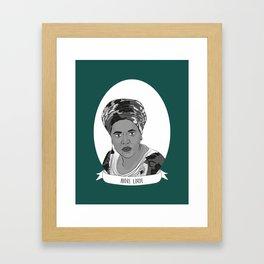 Audre Lorde Illustrated Portrait Framed Art Print