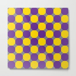 Purple and Yellow Octogons Metal Print