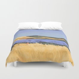 Lake in Marin County Duvet Cover
