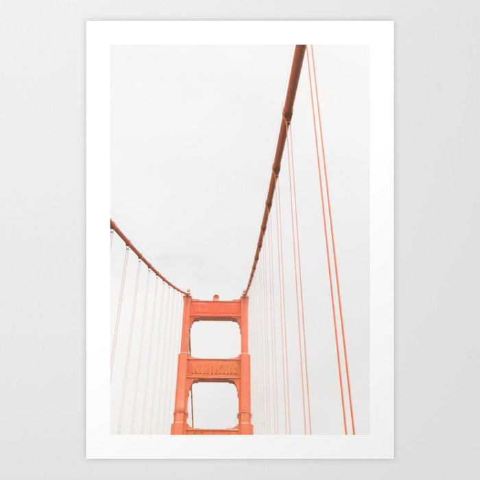 On the Golden Gate Bridge Kunstdrucke