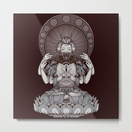 Geisha (Buddha Style) Metal Print