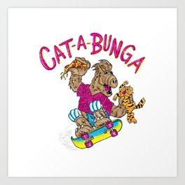 Cat-a-bunga! Art Print