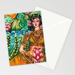 Indian princess illustration Stationery Cards