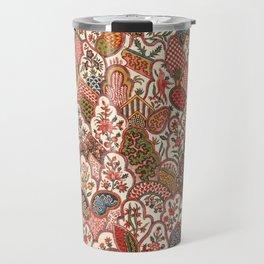 Oberkampf & Cie. Block Printed Textile Pattern, 1792 Travel Mug