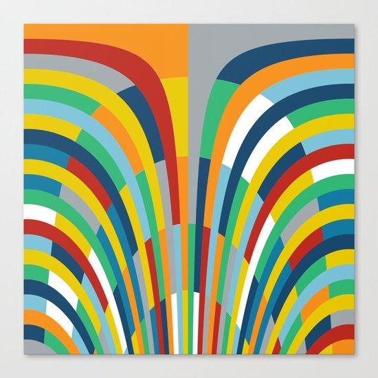 Rainbow Bricks #2 Canvas Print