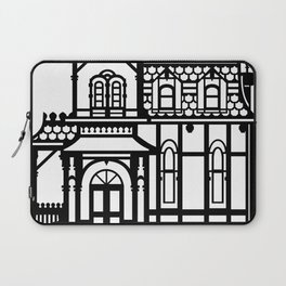 Old Victorian House - black & white Laptop Sleeve