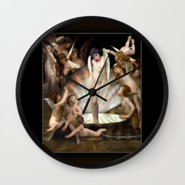 Bouguereau's Angels Surround Cupid Wall Clock