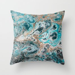 Beach Shallows 5 Throw Pillow