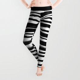Zebra - Fusion of pen strokes Leggings