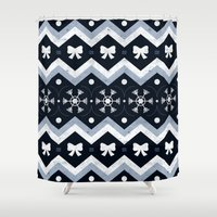 sweater Shower Curtains featuring Sweater Weather by Dorothy Leigh