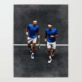 Nadal and Federer Doubles Poster