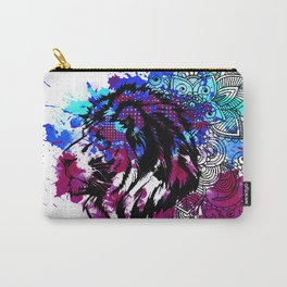 Purple Lion Spirit Carry-All Pouch
