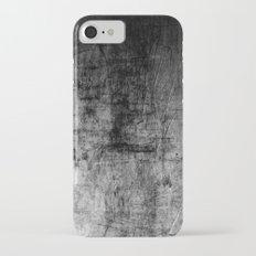 Silver Textured Concrete Pattern iPhone 7 Slim Case