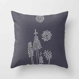 Forest Bathing  - Charcoal Throw Pillow