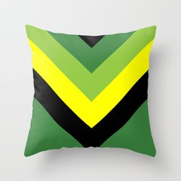 V-lines Green style Throw Pillow
