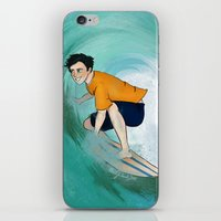percy jackson iPhone & iPod Skins featuring Percy Surfing by limevines