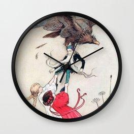 Compassionate Children Illustration Wall Clock