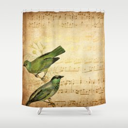 Vintage gold Music #6 Shower Curtain